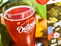 Outpost Pint glass