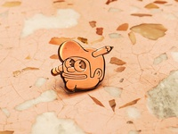 The Creative Pain copper pin
