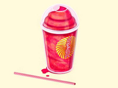 Brain Freeze slurpee drinks icee slush food simple the creative pain illustrator vector