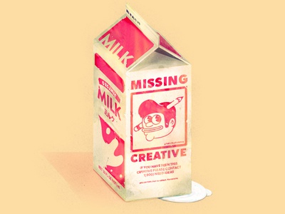 Missing Creative!!! missing milk typography logo branding nature simple food icons illustration illustrator the creative pain vector