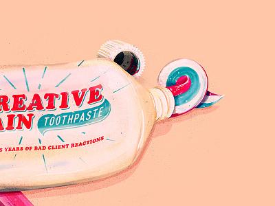 Minty Freshness typography logo dentist toothpaste the creative pain illustrator vector