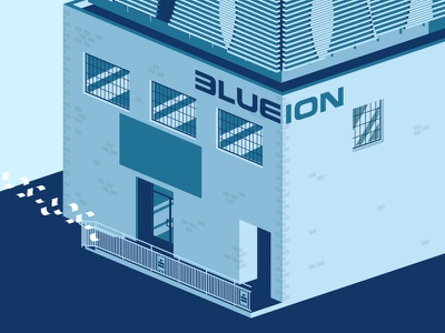 Paper is flying blue ion agency charleston buildings isomatric lines flat illustrator illustration