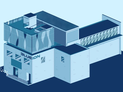 Welcome to Blue Ion charleston isometric buildings design vector illustrator illustration