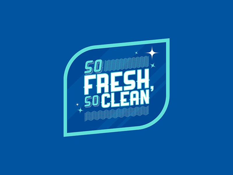 So Fresh, So Clean fresh clean design simple branding logo typography lines flat icons illustrator illustration vector