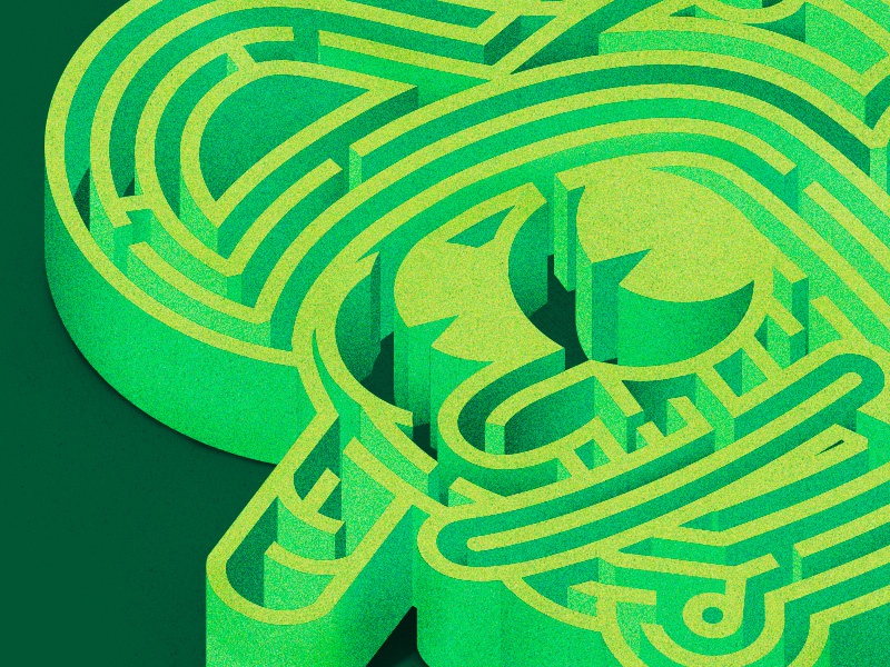 Lost in the process process lost maze logo vector illustrator icons nature design the creative pain illustration