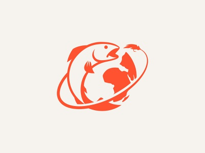 Seek the hook world fishing nature icons branding illustrator illustration vector