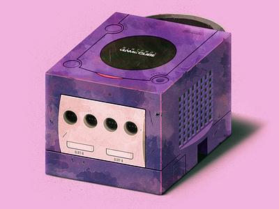 The Cube branding videogames cube nintendo game cube illustrator illustration vector