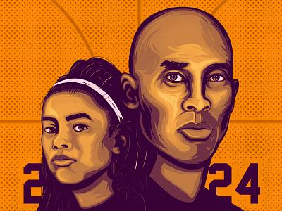 RIP Kobe & Gianna los angeles lakers 24 vector rip basketball kobe bryant