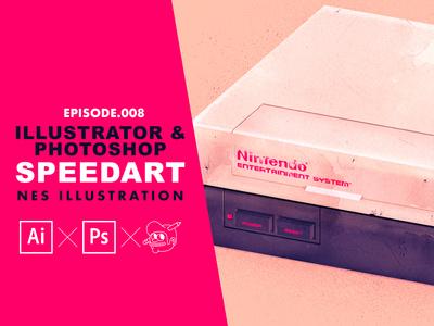 Nintendo NES Speedart [Adobe Illustrator & Photoshop]