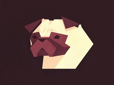 Pug Life dogs pugs pets simple flat branding design icons illustrator illustration vector