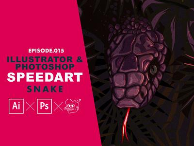 Snake Speedart [Adobe Illustrator & Photoshop] speedart snakes tutorial the creative pain illustrator illustration vector