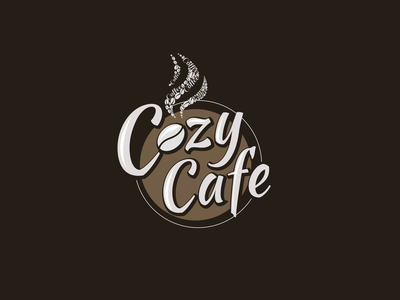 Cozy Cafe cafe logo creative minimalist clean new design coffee design cozy logo brown logo logo design coffee logo coffee cafe