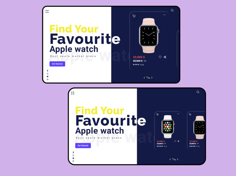 Web UI about apple watch store