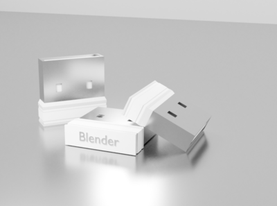 Mini USB WIFI adapter cycle in blender 3d animation blender 3d