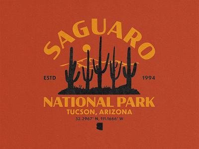 Saguaro National Park vintage badge vintage font vintage vintage design truegrit illustration branding textured national park distressedunrest distressed badge design badge