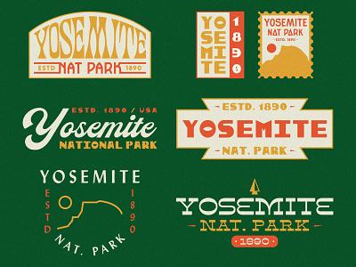 Yosemite National Park - Flash Sheet monogram flash flash sheet vector badge typetopia typeography modern badge national park yosemite illustration vintage design vintage design badge design typography branding nature