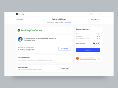 Booking Confirmation - Web confirmation principle sketch booking ui design web