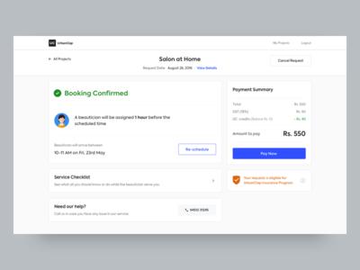 Booking Confirmation - Web confirmation principle sketch booking ui design web