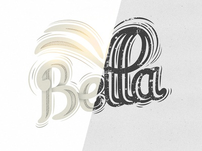 Bella vector letters bella type