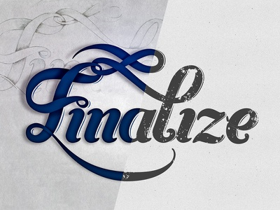Finalize letters type typography finalize vector custom