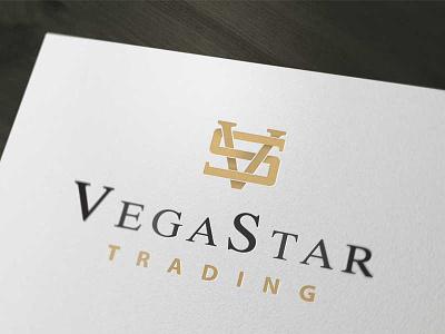 Logo design - Vega Star Trading logo design gold serif black