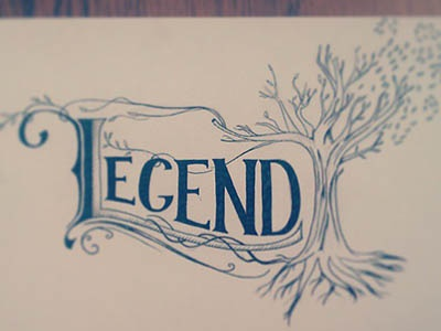 Hand drawn letters typography handdrawn legend drawing draw tree sketch