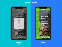 Yoosana   UX-UI & Mobile web ux app mobile design identitiy ui logo branding design