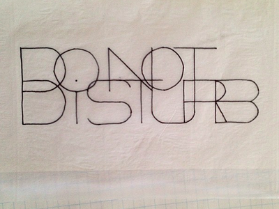 Sketching lettering exercises typography