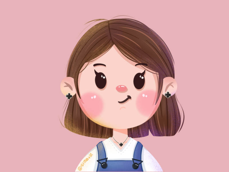 Overalls girl design illustration