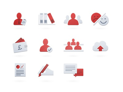 School Management Icons icons school management system flat clean