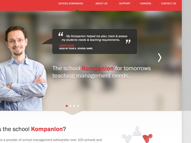 Landing page landing page promo promotional school management system ui interface web