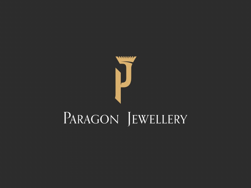 Paragon Jewellery pj monogram paragon diamond luxury design brand logo jewellery