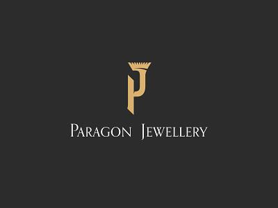 Paragon Jewellery pj monogram paragon diamond luxury design brand logo jewellery