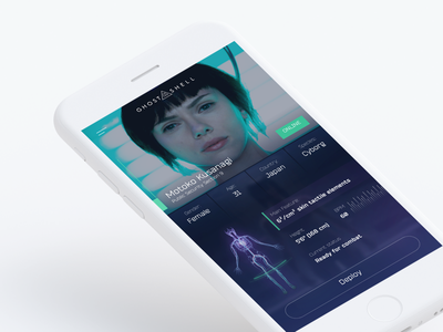 Day 006 shell the in ghost movie mobile flat profile daily ui dailyui