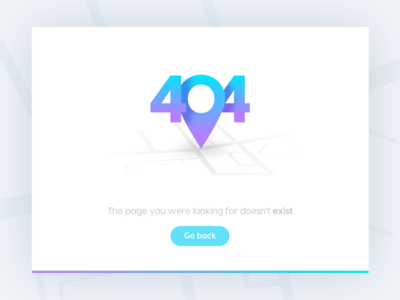Day 008 pin flat buttons rounded dailyui ui daily 404 error purple map