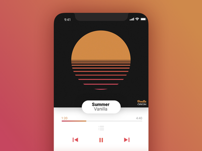 Day 009 - Music Player music player ui rounded flat dailyui daily buttons