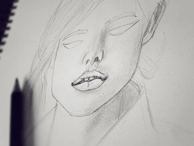 Initial sketching  sketching portrait woman face idea ideas