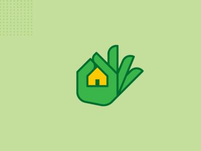 Real estate logo concept.