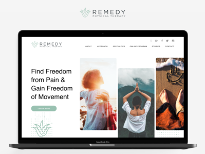 Web Design : Remedy flat therapy website web design