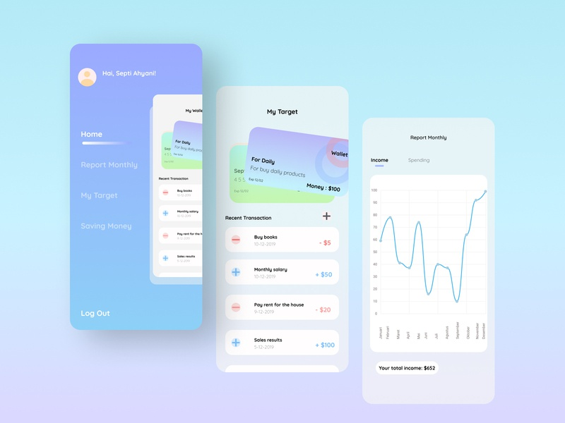 Financial Records Application - Explore uxdesign ux uidesigner ui design uidesign financial dashboard financial app application app design app ui figmadesign figma design