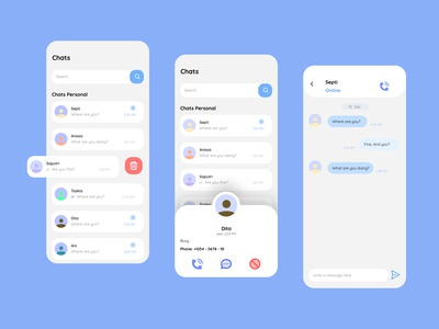 Chat Application for Mobile - Explore design app designer uiux design mobile app design mobile design mobile app mobile ui ui design uiuxdesigner uidesign uiuxdesign application app design ux app ui figmadesign figma design