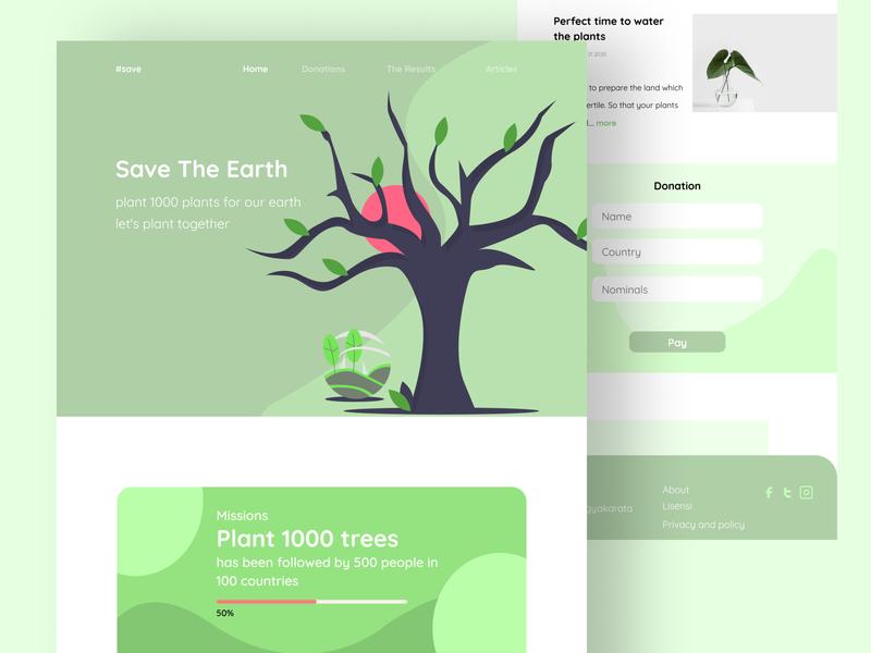 Landing Page - Explore uiwebdesign uiwebsite ui design websites website concept web design website design illustrations illustration website web webdesign ui figmadesign figma design