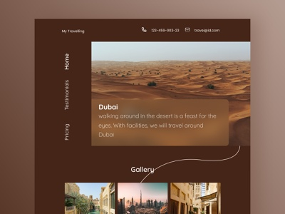 Traveling Website - Landing Page Explore travel landing layout landing page landingpage ui  ux ui design uidesign designs desktop designer website design web design website web webdesign ui figmadesign design figma