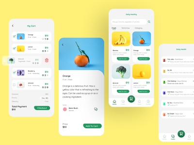 Healthy Market Application - Explore uiux application app design designs designer uiux designer mobile app design mobile design mobile ui mobile app design app ui design uiuxdesigner uiux design uiuxdesign app ui figmadesign design figma
