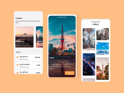 Travel Guide Application appdesigner appdesign uidesigner ui design ui  ux uiux uidesigns mobile design uidesign application app design app ui figmadesign design figma