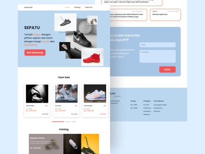 Landing Page - Shoes Shop Website designer designs uiux ui  ux uiwebdesign uiwebsite website concept web design website design ux website web uidesign webdesign ui design ui figmadesign design figma