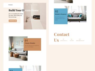 Website Interior - Landing Page designer figma design website concept designs web design ui  ux uiux website design website web uidesign webdesign ui design ui figmadesign design figma