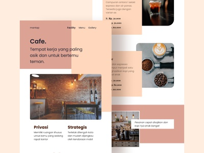 Cafe Website - Landing Page ui  ux ui design designer designs web website concept website design web design webdesign website uidesign ui figmadesign design figma