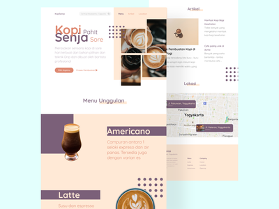 Cafe Website - Landing Page designer web uiux ui  ux web design website website design uidesign webdesign ui ui design figmadesign design figma
