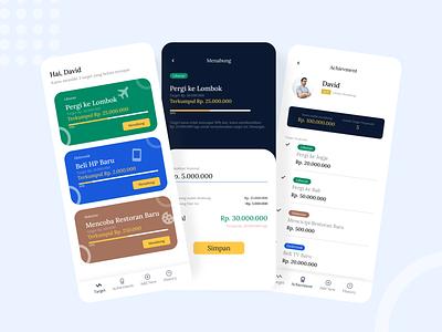 Money Saving Application designer uidesigner uiux app uidesign ui design ui figmadesign design figma